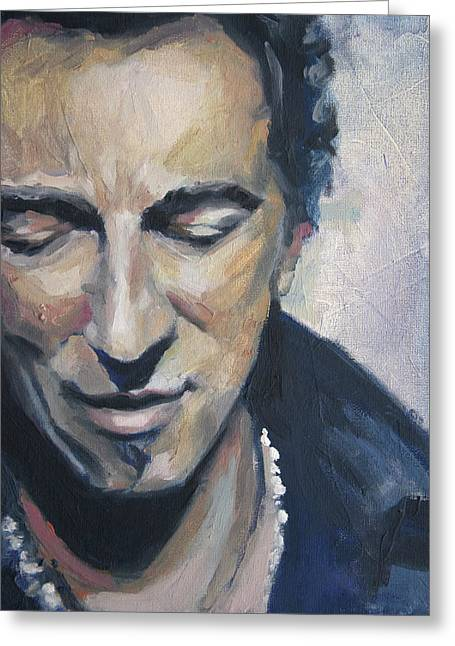 It's Boss Time II - Bruce Springsteen Portrait Greeting Card