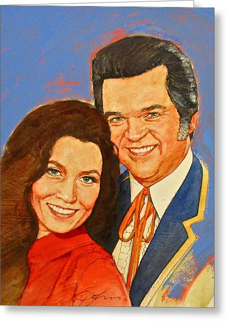 Its Country - 12 Loretta Lynn Conway Twitty Greeting Card
