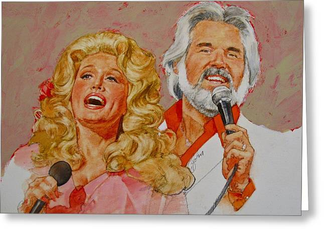 Its Country - 8  Dolly Parton Kenny Rogers Greeting Card