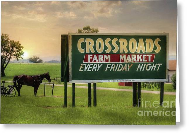 It's Friday Night Greeting Card by Lori Deiter