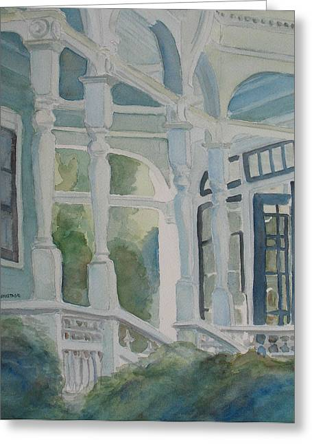 Anne Paintings Greeting Cards - Its Greener on the Other Side Greeting Card by Jenny Armitage