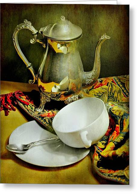 It's Just Tea Greeting Card by Diana Angstadt