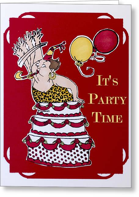 It's Party Time Greeting Card by Jon Berghoff