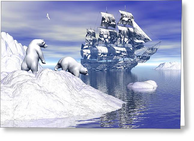 Its Really Cold Greeting Card by Claude McCoy