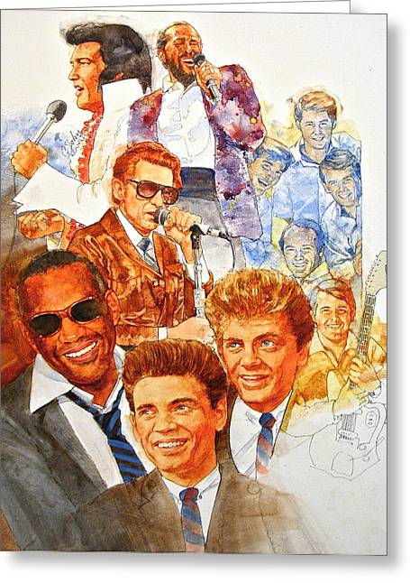 And Jerry Lee Lewis Greeting Cards - Its Rock And Roll 3 Greeting Card by Cliff Spohn