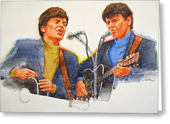 Its Rock And Roll 4  - Everly Brothers Greeting Card