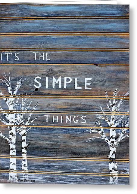 It's The Simple Things Greeting Card