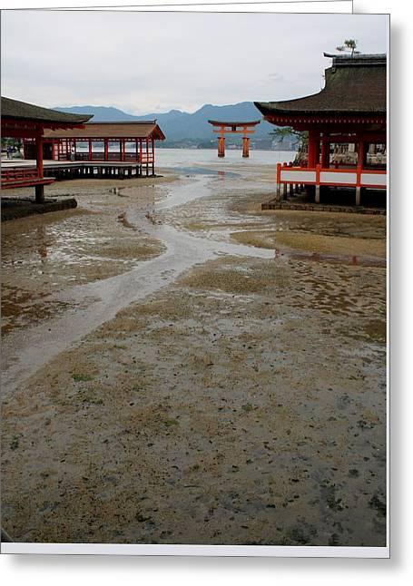 Itsukushima Shrine And Torii Gate Greeting Card
