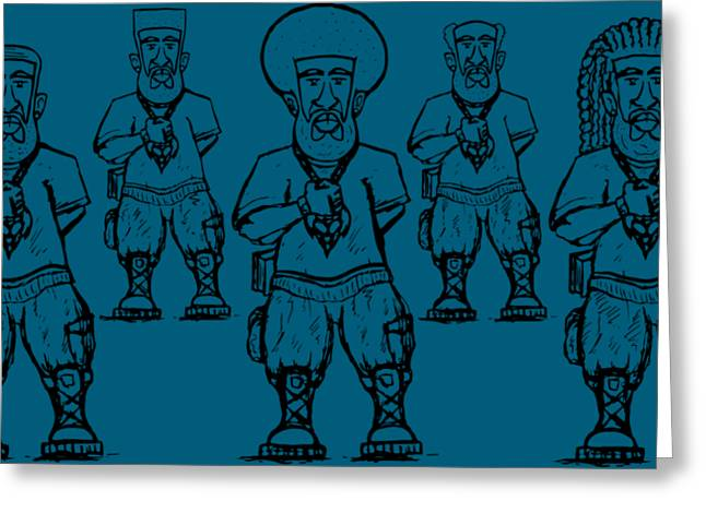 Iuic Soldier 1 W/outline Greeting Card