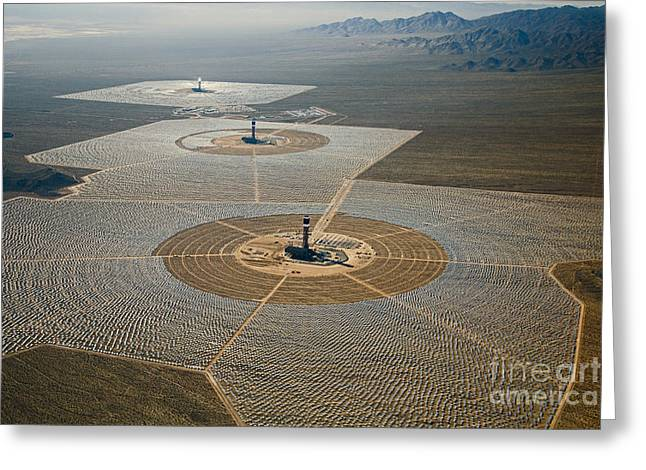 Ivanpah Solar Power Plant Greeting Card