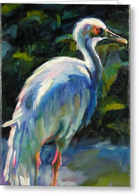Greeting Card featuring the painting I've Got My Eye On You by Chris Brandley