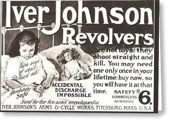 Iver Johnson Revolvers Greeting Card