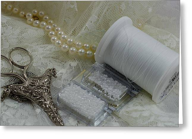 Ivory And Lace Greeting Card