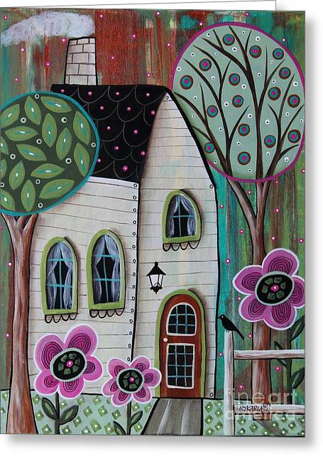 Ivory Cottage Greeting Card