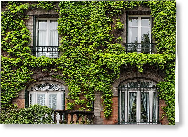 Ivy Covered House In Montmartre Paris Greeting Card by Georgia Fowler