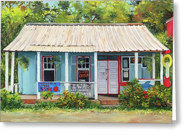Iwa Gallery Greeting Card by Stacy Vosberg