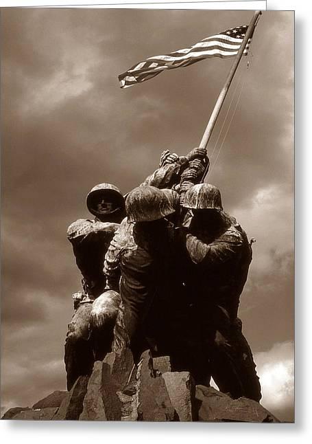 Iwo Jima War Memorial Washington Greeting Card