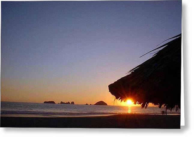 Ixtapa Sunset Greeting Card by Jack G  Brauer