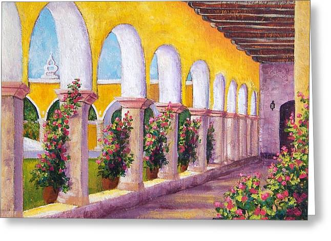Izamal Arches Greeting Card by Candy Mayer