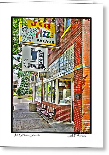 J And G Pizza Palace Greeting Card