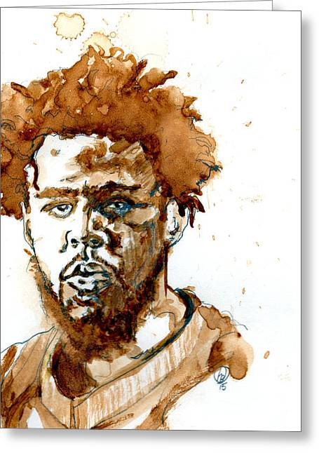 J Cole Greeting Card