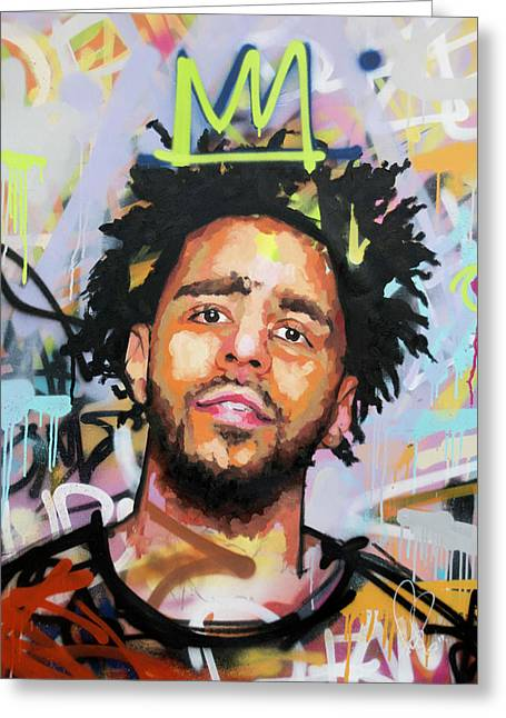 J Cole Greeting Card by Richard Day
