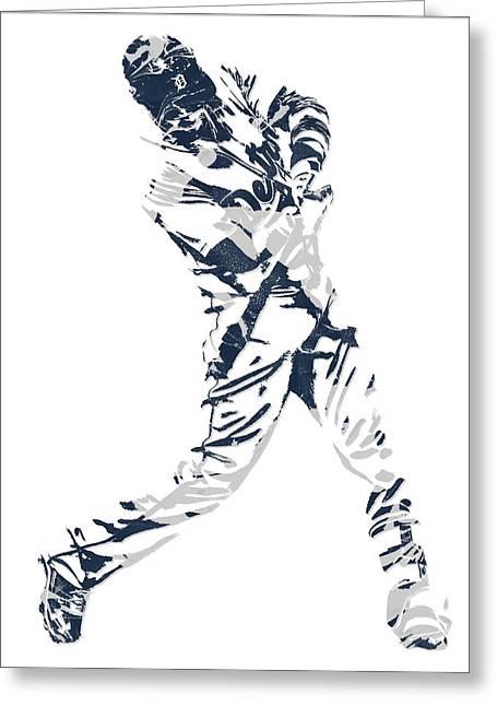 J D Martinez Detroit Tigers Pixel Art 3 Greeting Card