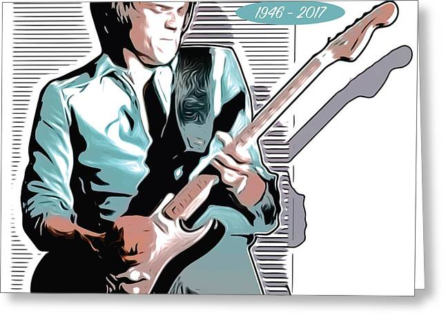 J Geils Greeting Card by Greg Joens
