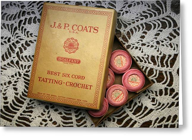 J P Coats Greeting Card