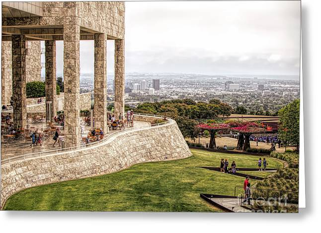 J. Paul Getty Museum Los Angeles Landscape Architecture  Greeting Card
