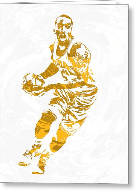 J R Smith Cleveland Cavaliers Pixel Art Greeting Card