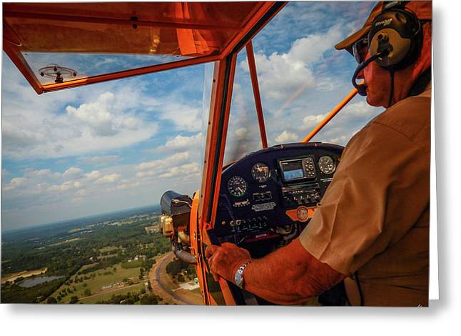 J3 Cub, The Bare Essentials Greeting Card by Phil Rispin