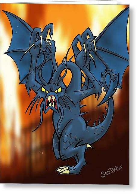 Jabberwock Greeting Card by Sean Williamson