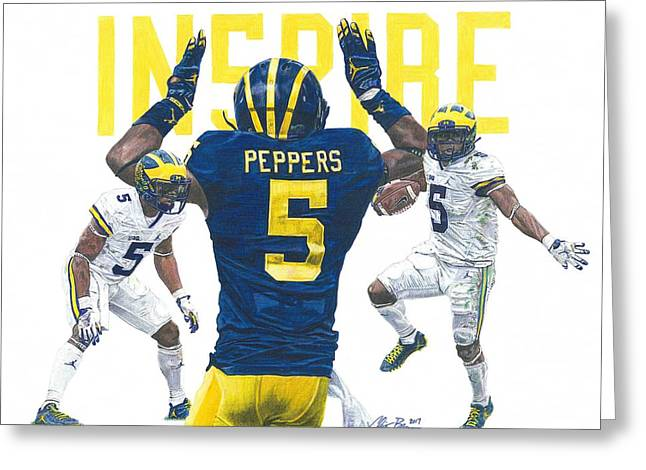 Jabrill Peppers Greeting Card