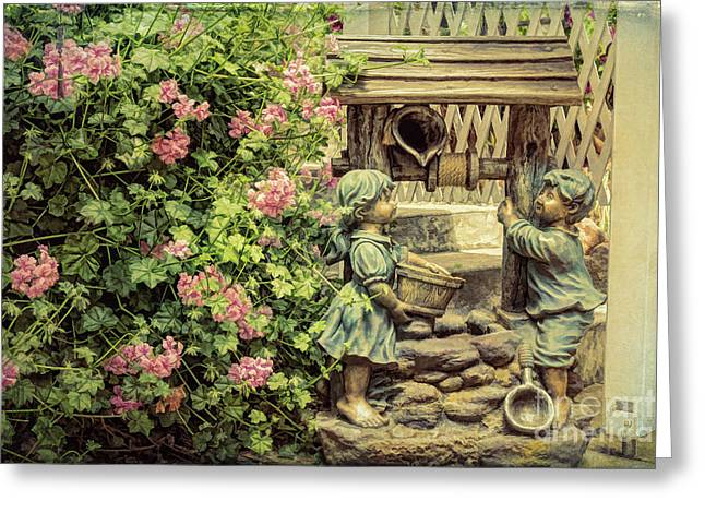 Jack And Jill Greeting Card by Elaine Teague