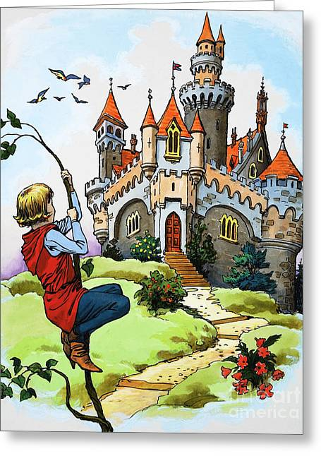 Jack And The Beanstalk Greeting Card by English School