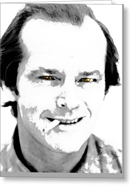 Jack B N W  Greeting Card by Enki Art