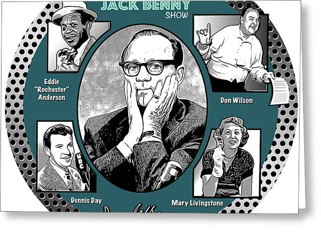 Jack Benny Show Greeting Card
