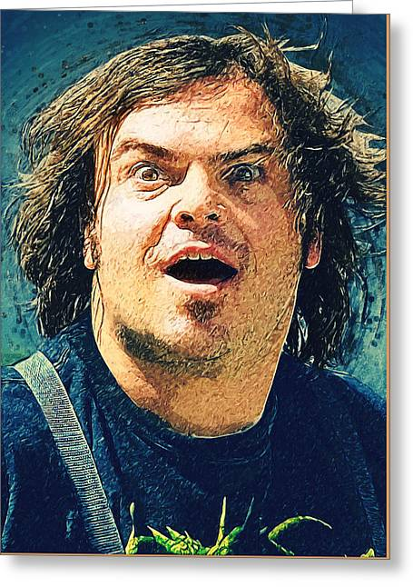 Jack Black - Tenacious D Greeting Card by Taylan Apukovska