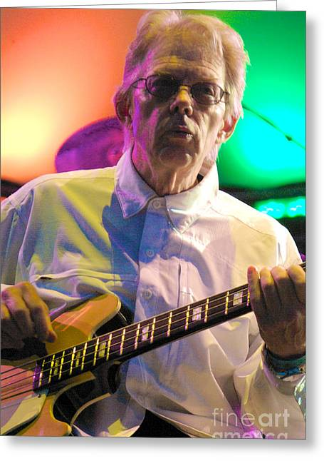 Jack Casady Of Jefferson Airplane And Hot Tuna Greeting Card