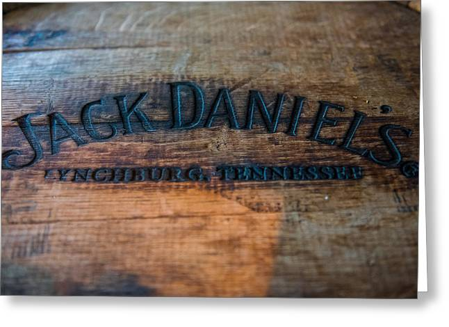 Jack Daniels Oak Barrel Greeting Card