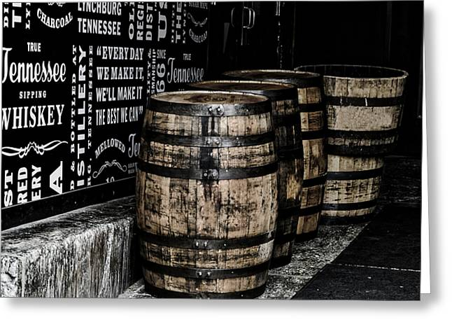 Jack Daniel's Tennessee Whiskey Barrels Greeting Card by Paul Brennan