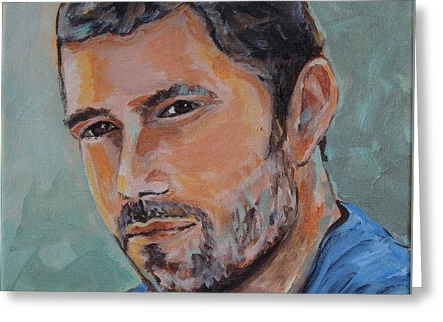 Jack From Lost Greeting Card by Jeanne Forsythe