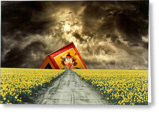 Surreal Landscape Mixed Media Greeting Cards - Jack in the box apocalypse Greeting Card by Michael Levis