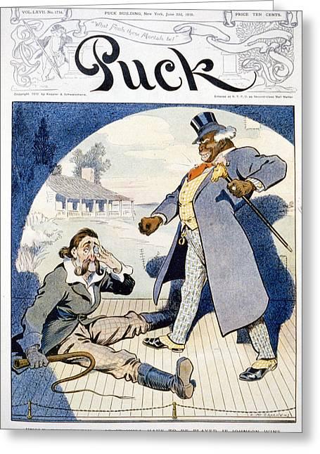Jack Johnson Cartoon, 1910 Greeting Card by Granger
