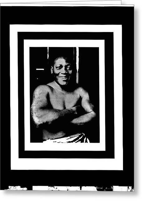 Jack Johnson Heavyweight Boxing Champion 1915 Coolant Frames Added 2016 Greeting Card by David Lee Guss