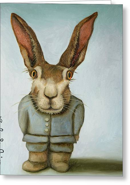 Jack Greeting Card by Leah Saulnier The Painting Maniac