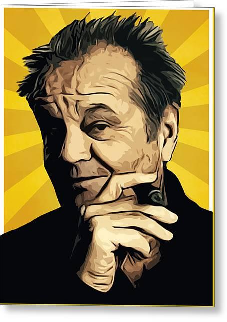 Jack Nicholson 3 Greeting Card by Semih Yurdabak