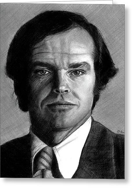 Jack Nicholson Portrait Greeting Card