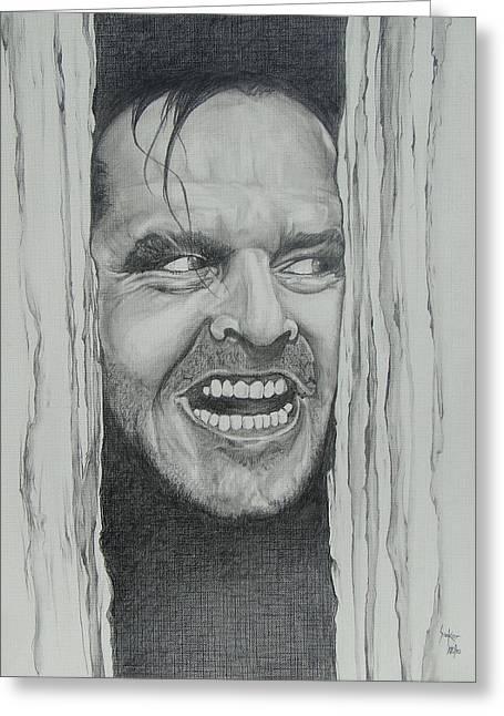 Jack Nicholson Greeting Card by Stephen Sookoo